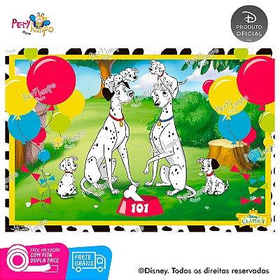 Painel de Festa Decorativo - 101 Dálmatas - 1,45m X 1,00m
