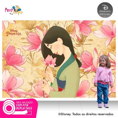 Painel Festa Decorativo Mulan 1,45 x 1,00m
