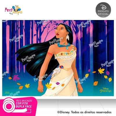 Painel Festa Decorativo Pocahontas 1,45 x 1,00m