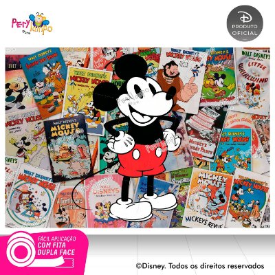 Painel de Festa Decorativo Mickey Pôsteres 1,45m X 1,00m