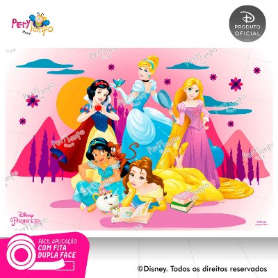 Painel de Festa Decorativo Princesas Desenho 1,45m X 1,00m