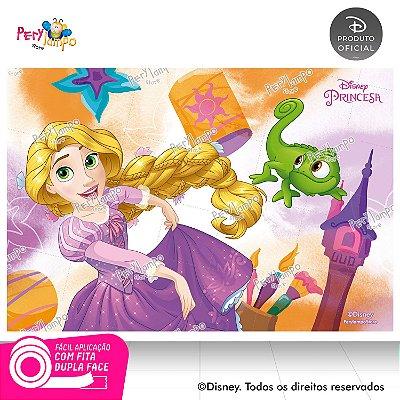 Painel Decorativo Enrolados - Rapunzel Aquarela-1,45mx1,00m