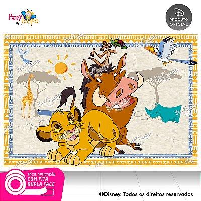 Painel Decorativo O Rei Leão Simba, Timão, Pumba-1,45mx1,00m