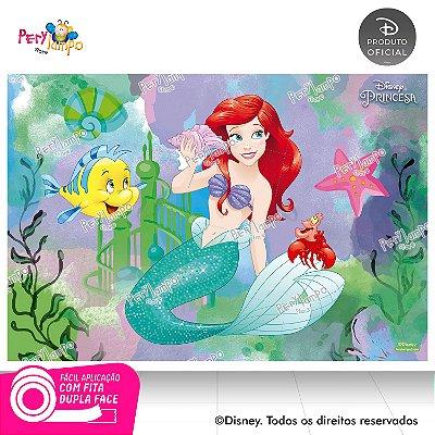 Painel Decorativo Pequena Sereia -Ariel Aquarela-1,45mx1,00m