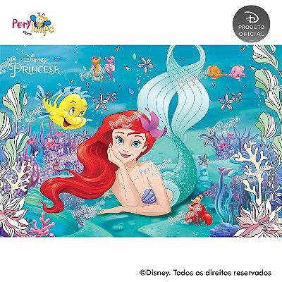 Painel Decorativo Pequena Sereia- Ariel Peixes- 1,45mx1,00m