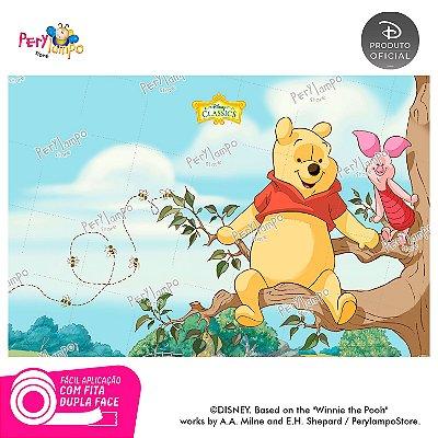 Painel de festa Decorativo - Pooh Árvore - 1,45 x 1,00m