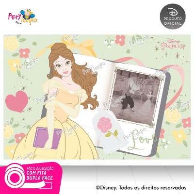 Painel festa decorativo A Bela e a Fera Álbum 1,45m x 1,00m