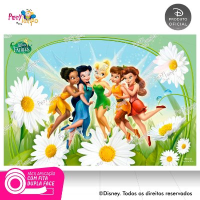 Painel festa Decorativo Fadas - 1,45 x 1,00m