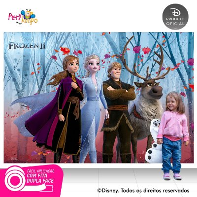 Painel De Festa Decorativo Frozen 2 - Turma 2 - 2,20mx1,45m