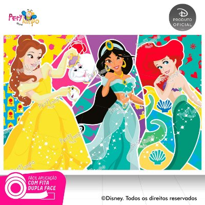Painel Princesas Disney - Atitude que brilha -1,45x1,00m