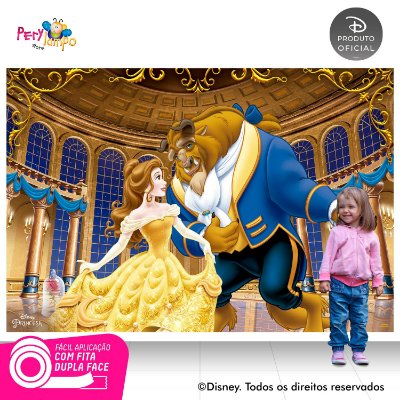Painel festa Decorativo A Bela e a Fera - Baile-2,20m x1,45m