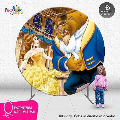 Painel Decorativo Redondo - A Bela e a Fera Baile - 2,10D