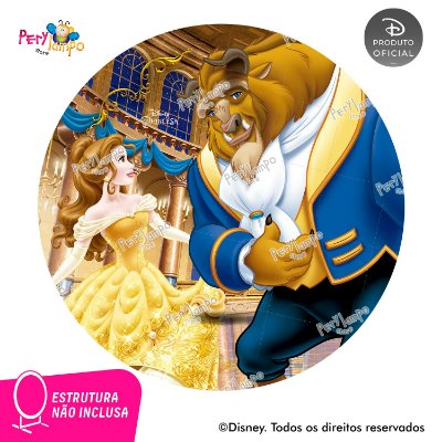 Painel Decorativo Redondo - A Bela e a Fera Baile - 1,45D