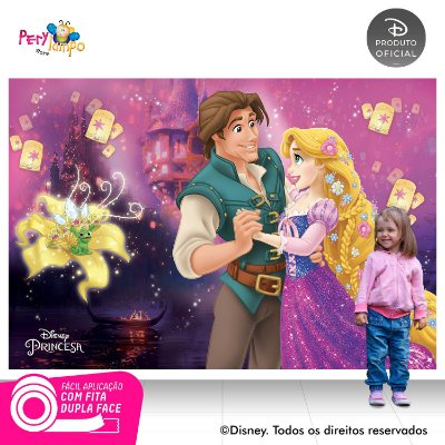 Painel Decorativo Enrolados - Rapunzel Flynn Rider-2,20x1,5m