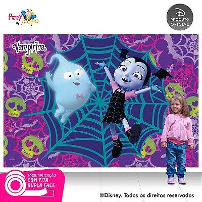 Painel de festa Decorativo - Vampirina Caveiras-2,20X 1,45m