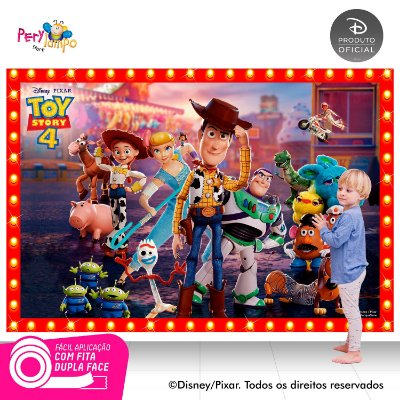 Painel festa Decorativo Toy Story 4 - Frames - 2,20 x 1,45m