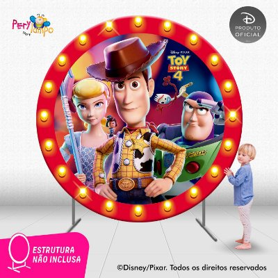 Painel festa Decorativo Redondo Toy Story 4 - Frames - 2,10D