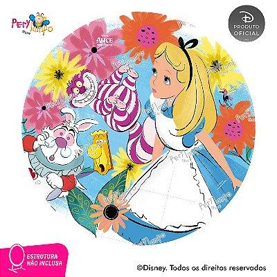 Painel Decorativo Redondo Alice no País das Maravilhas 1,45D