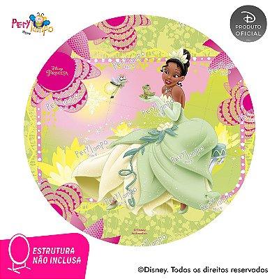 Painel Decorativo Redondo Princesa e o Sapo Rosa - 1,45D