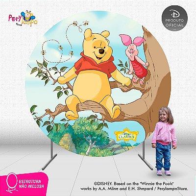 Painel de festa Decorativo Redondo - Pooh Árvore - 2,10D