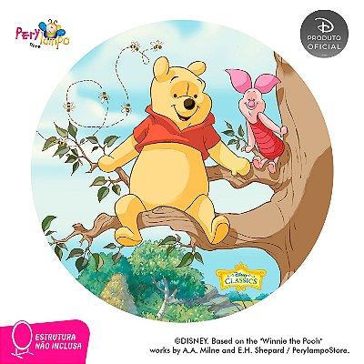 Painel de festa Decorativo Redondo - Pooh Árvore - 1,45D