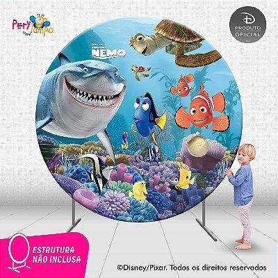 Painel de festa Decorativo Redondo - Procurando Nemo - 2,10D