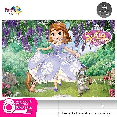Painel de festa Decorativo Princesinha Sofia - 1,45 x 1,00m