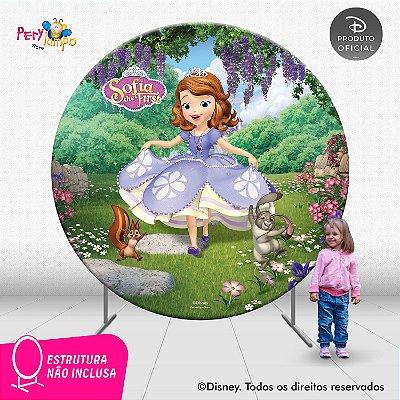 Painel de festa Decorativo Redondo Princesinha Sofia - 2,10D
