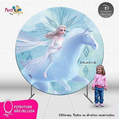 Painel Decorativo Redondo Frozen 2-Elsa Nokk Elementos-2,10D