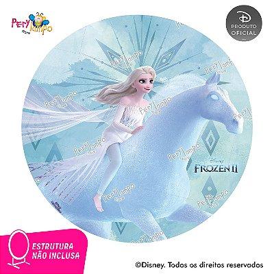 Painel Decorativo Redondo Frozen 2-Elsa Nokk Elementos-1,45D