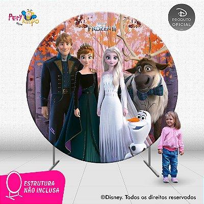Painel Decorativo Redondo Frozen 2 -Turma Coroação - 2,10D