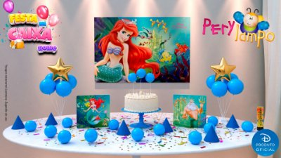 Kit Festa na Caixa HOME - Pequena Sereia Ariel