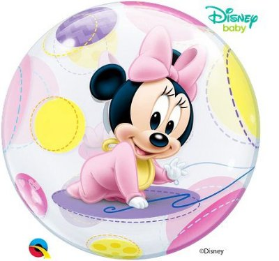 Balão Bubble Disney Baby Minnie