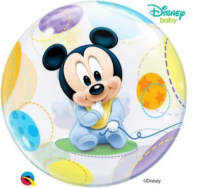 Balão Bubble Disney Baby Mickey