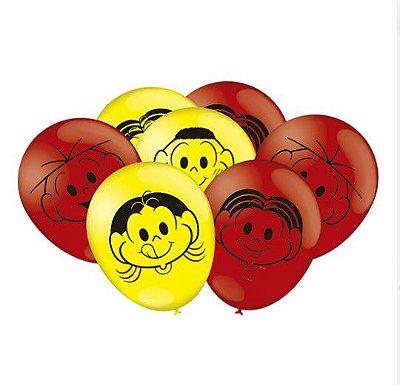 """Balões Látex 9"""" Sortidos Turma da Mônica"""