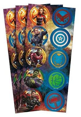 Adesivo Decorativo Redondo Avengers Endgame