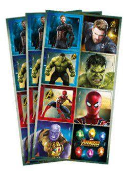 Adesivo Decorativo Quadrado Avengers Infinity War