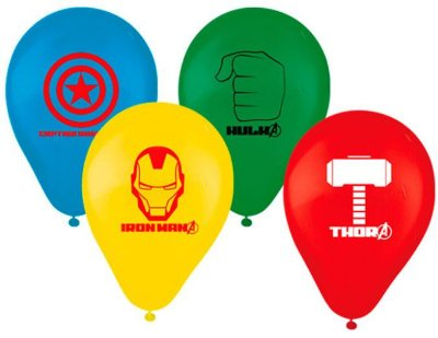 "Balões Látex 9"" Sortidos Avengers Assemble"