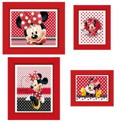 Quadrinho Decorativo Retangular Minnie Vermelha - Disney