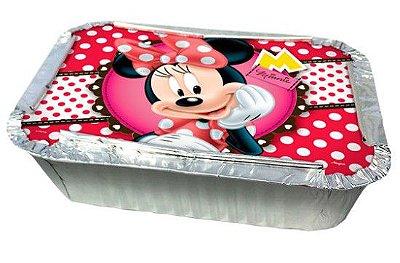 Kit Marmitinha de Alumínio com Tampa Minnie Vermelha Disney