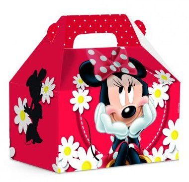 Caixa Maleta M Minnie Spring Vermelho - Disney
