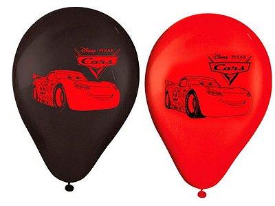 "Balões Látex 9"" Sortidos Carros Silver"