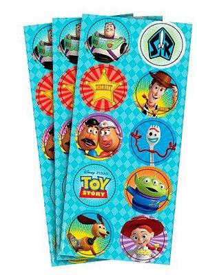 Adesivo Decorativo Redondo Toy Story 4