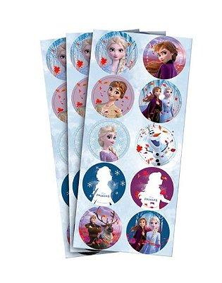 Adesivo Decorativo Redondo Frozen II