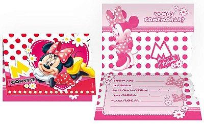 Convite pequeno Minnie Vermelha - Disney