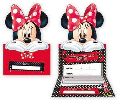 Convite grande Minnie Vermelha - Disney