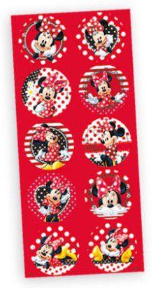Adesivo Decorativo Redondo Minnie Vermelha - Disney