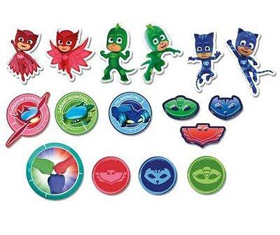 Mini Personagens Decorativos PJ Masks