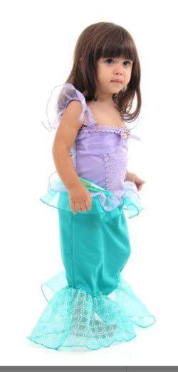 Fantasia Princesas Ariel Bebê Luxo
