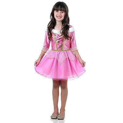 Fantasia Bela Adormecida Verão Princesa Disney - Aurora